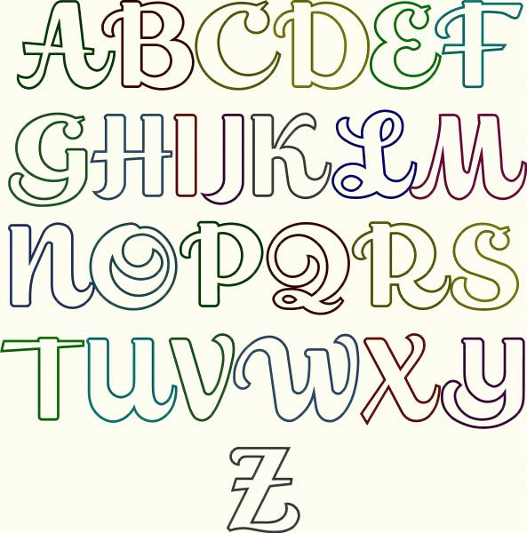 Bubble Letter Cursive Fonts Alphabet