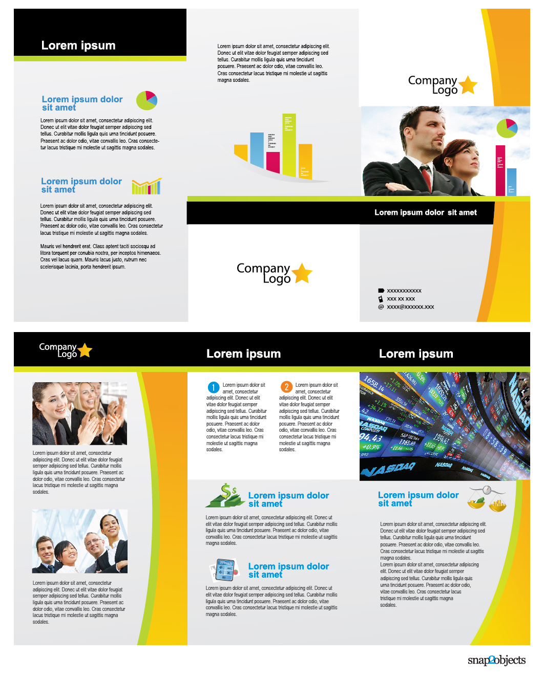 16 free brochure psd template images free business flyer templates