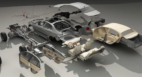 Car Parts 3D Model Software