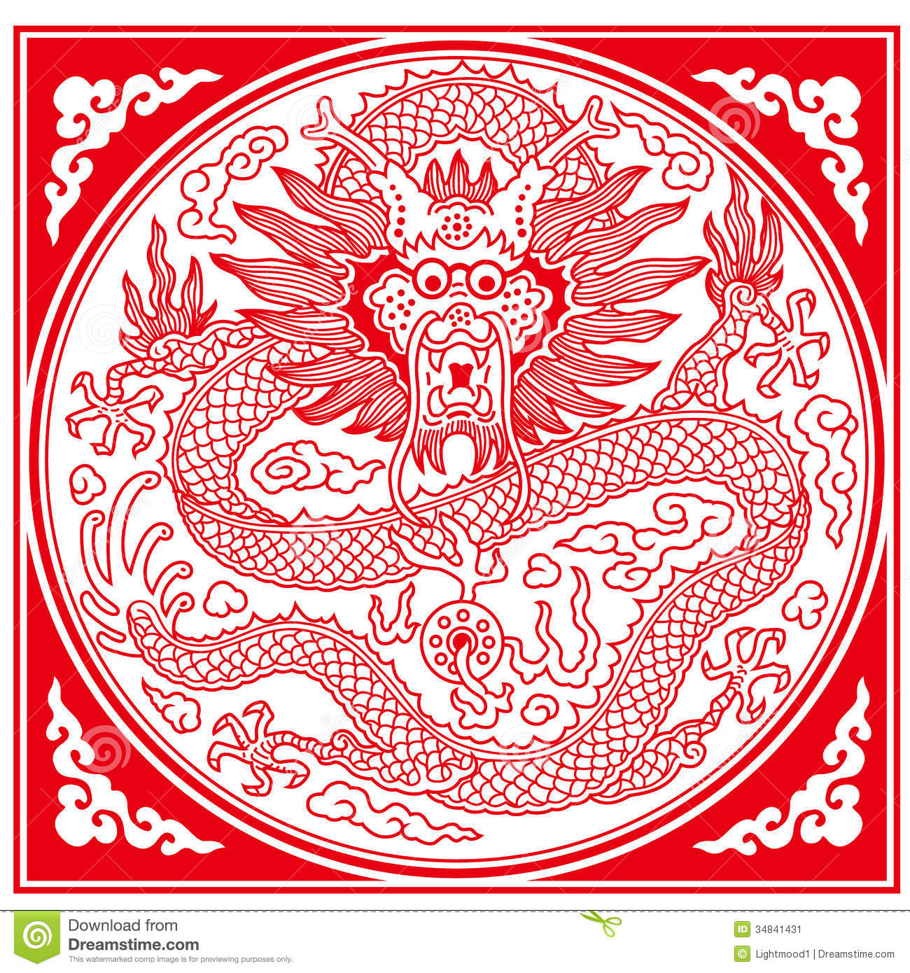 Chinese Dragon Designs Patterns