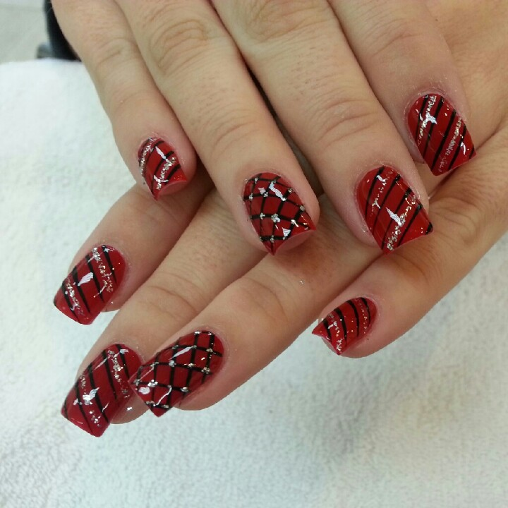 15 Christmas Acrylic Nail Designs 2015 Images