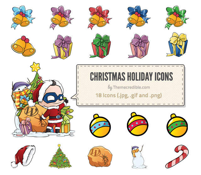 Christmas Holiday Icons Free