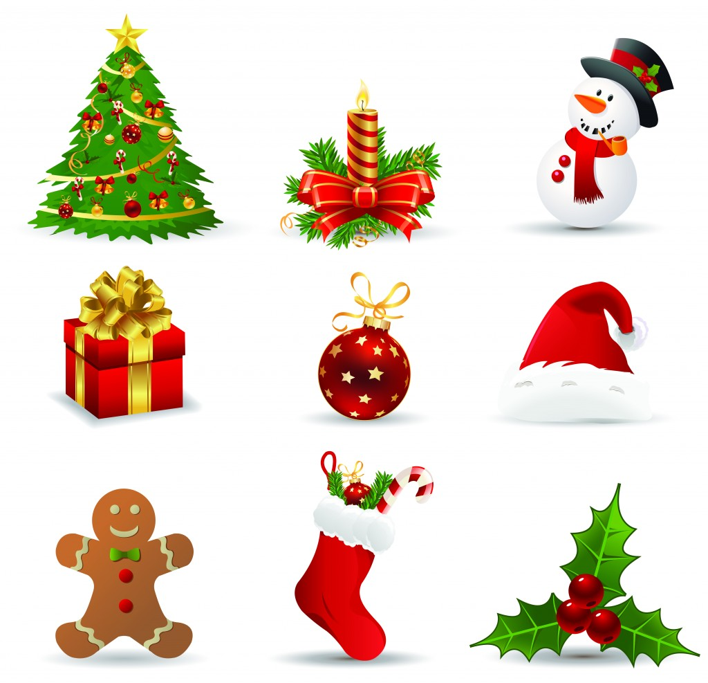 Christmas Icons Clip Art