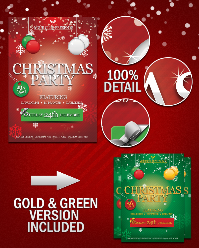 11 free christmas psd poster images merry christmas for Free christmas brochure templates
