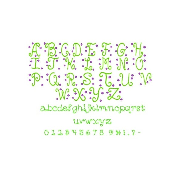 Circle Font Embroidery Design