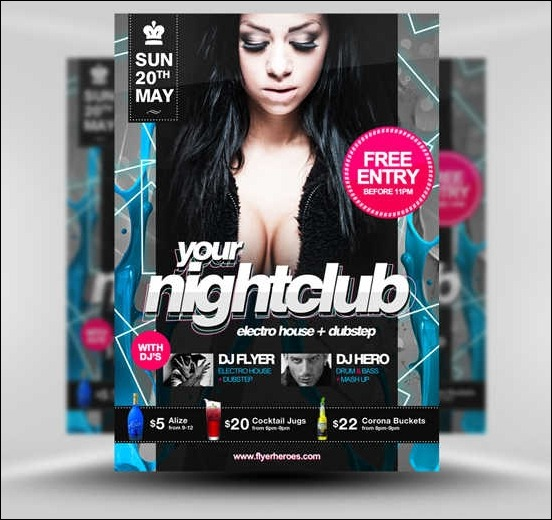 13 Free Nightclub Flyer Design Templates Images Club Party Flyer