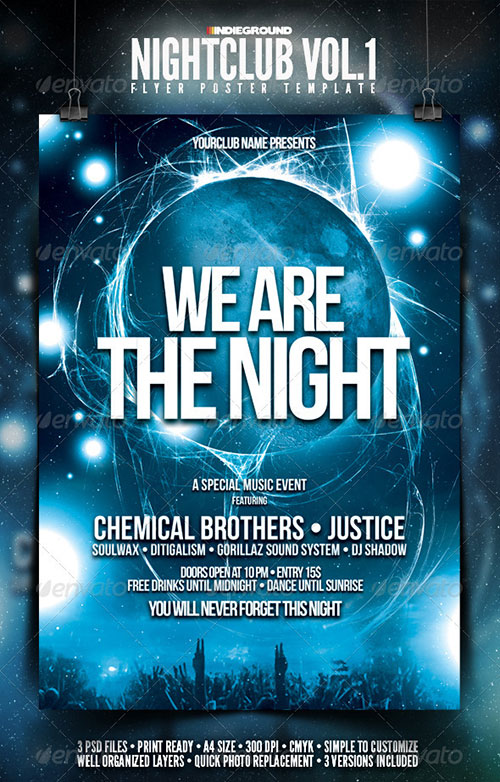 13 free nightclub flyer design templates images club for Free club flyer templates