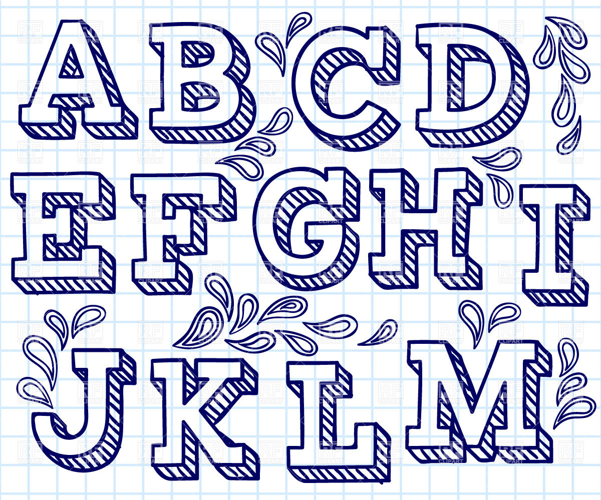 Cool Hand Drawn Letter Fonts