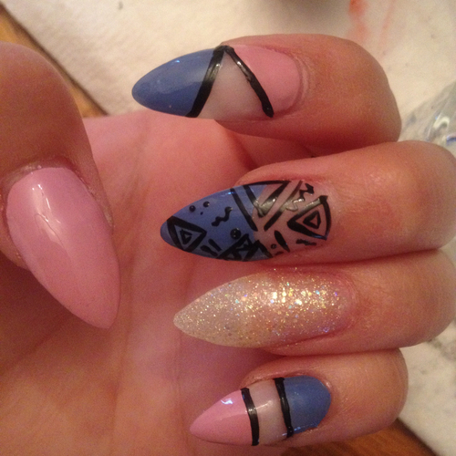 Cute Stiletto Nails Tumblr