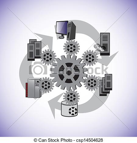 8 System Architecture Icon Images