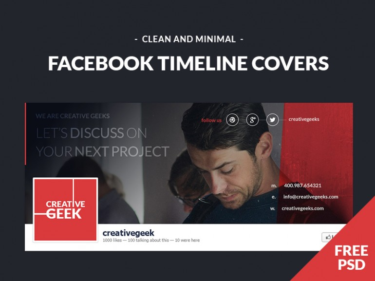 17 Timeline Cover PSD Images