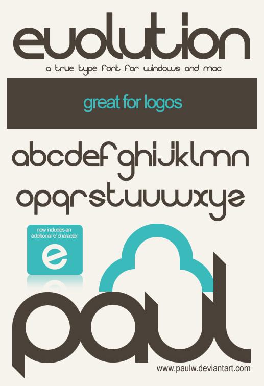 16 Truetype Fonts Logo Images