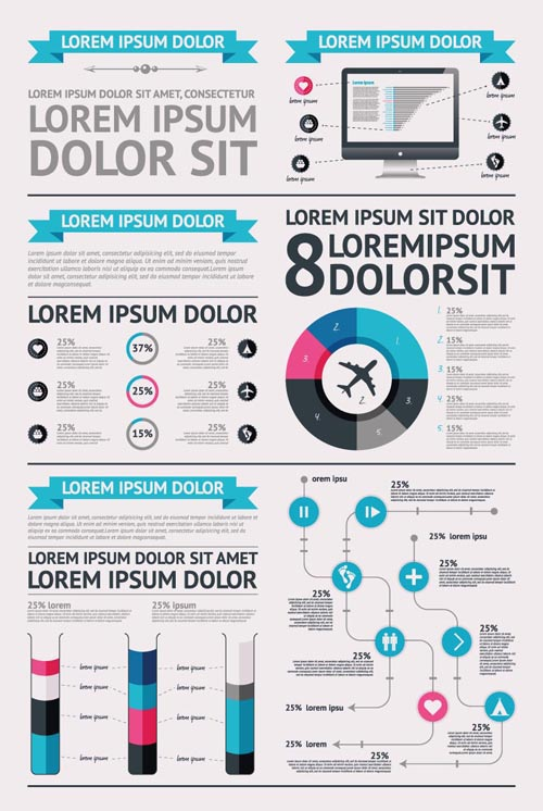 18 Free Vector Infographics Images