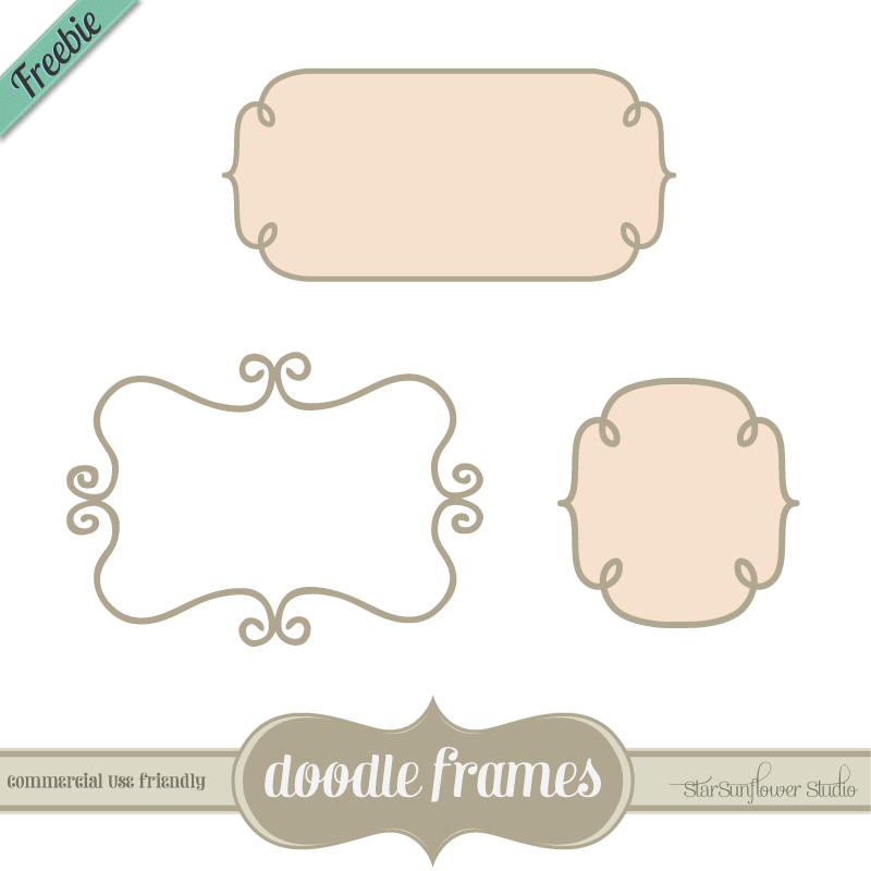 Free Label Clip Art Borders and Frames