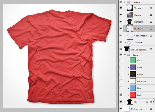 Free Photoshop T-Shirt Template