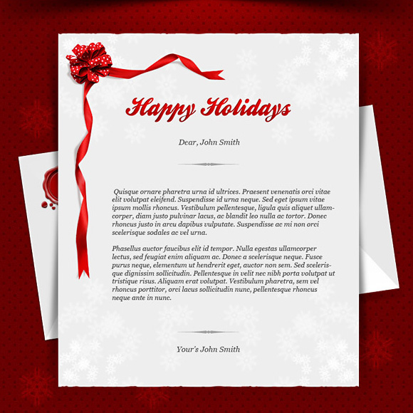 15 Christmas Card Photoshop Template PSD Images