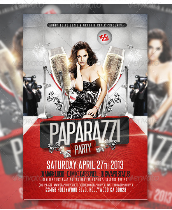 Free PSD Flyer Red Carpet