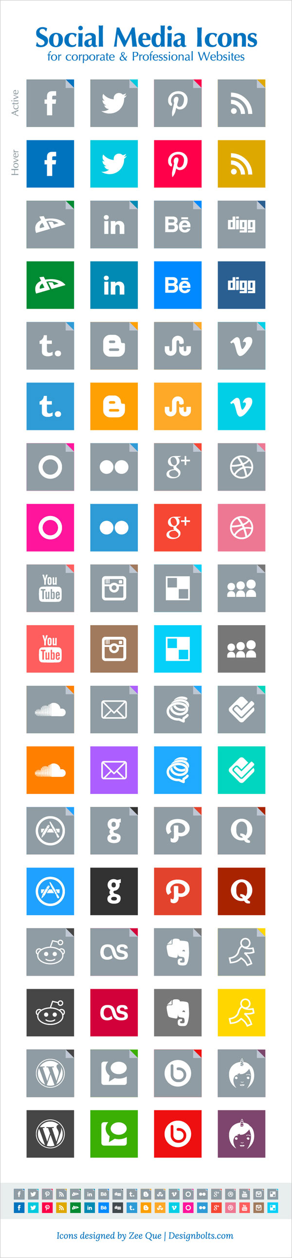 11 Professional Social Media Icons Images