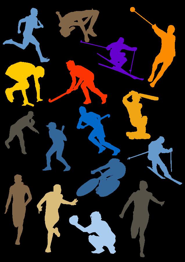 16 Sports Vector Clip Art Images