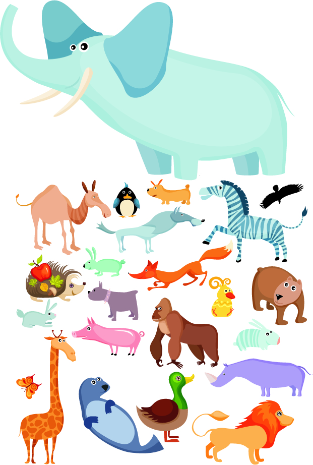 Free Vector Cartoon Animals