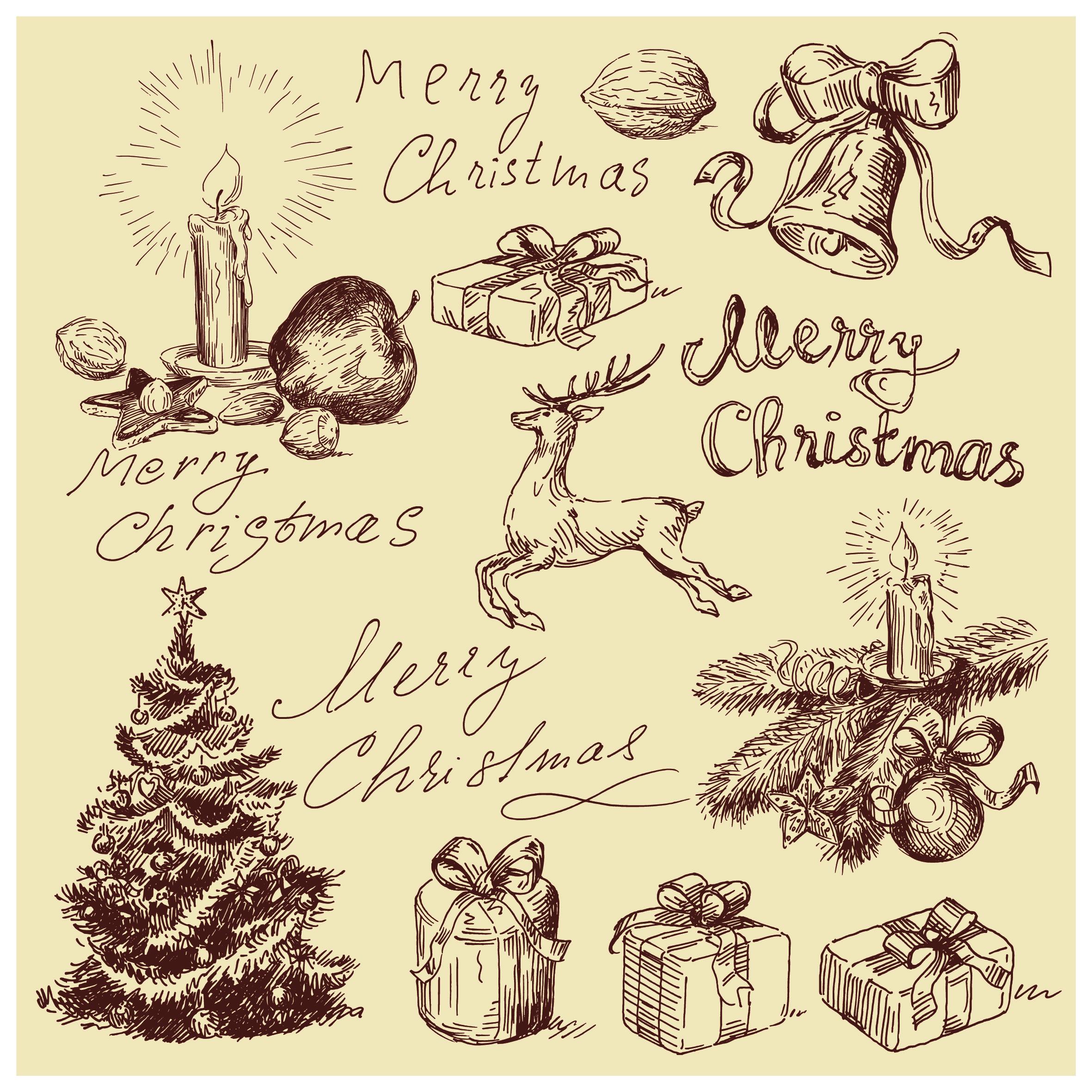 Free Vintage Christmas Vectors