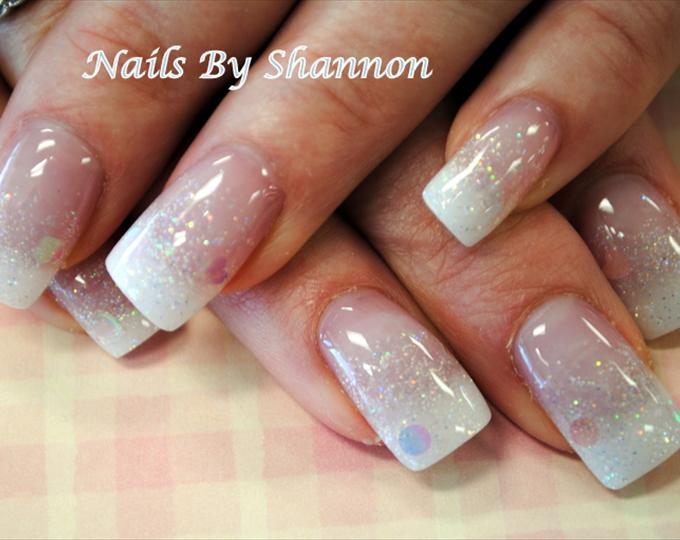15 White Glitter Nail Designs Images Glitter Fade Nail Designs