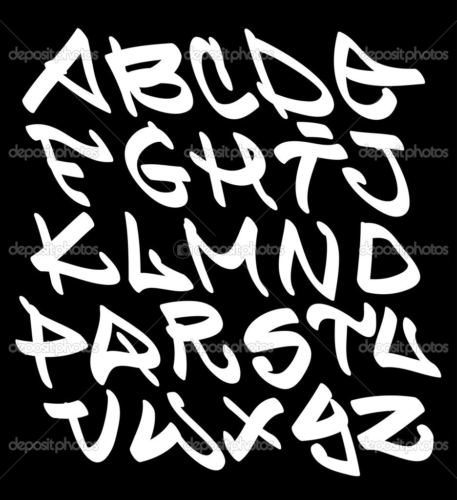 Graffiti Fonts Alphabet Letters