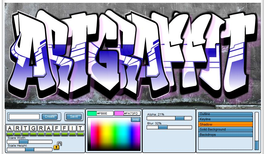 Free graffiti font file page 4 3d creator online free
