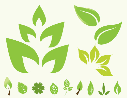 20 Leaves Vector Icon Images
