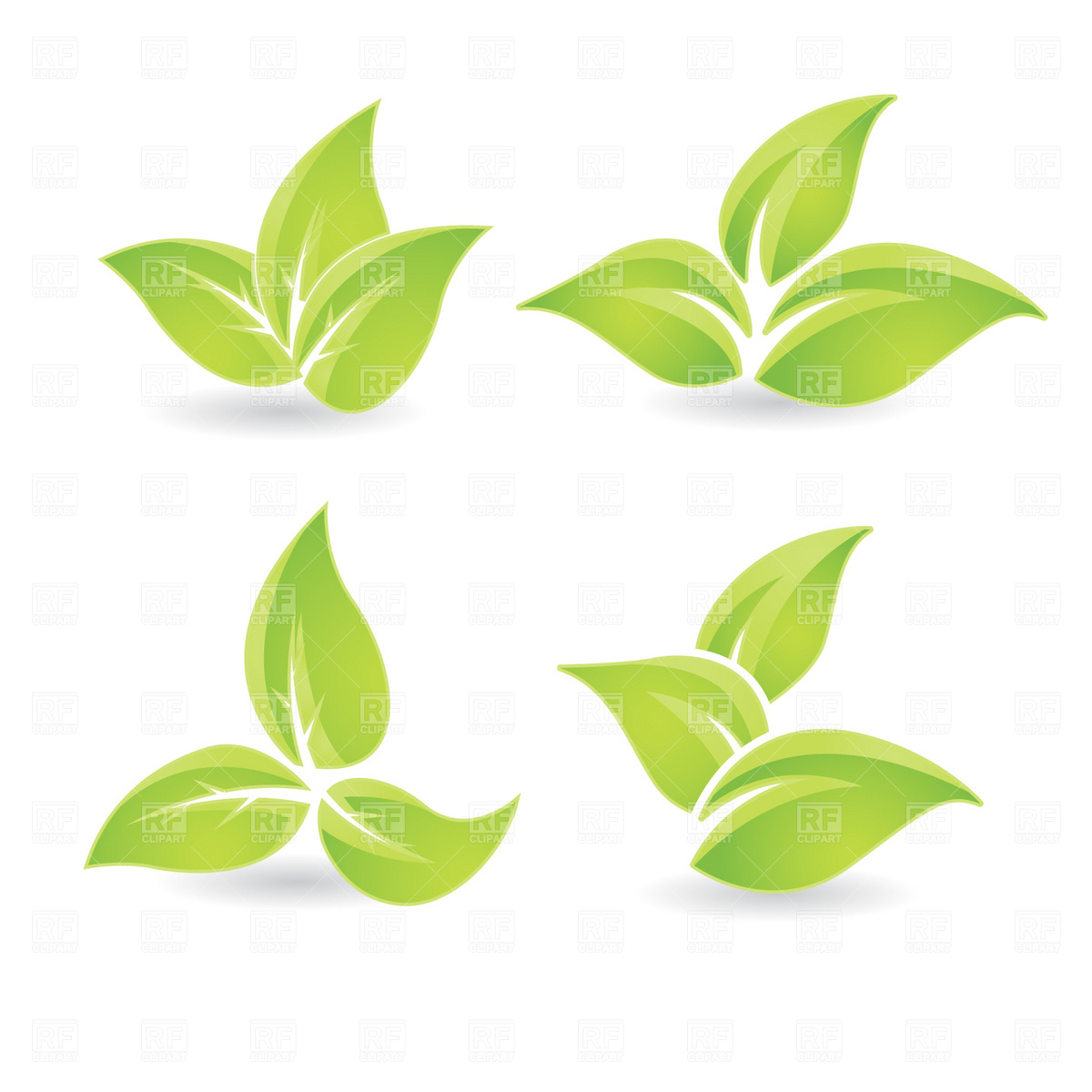 Green Leaves Vector Clip Art