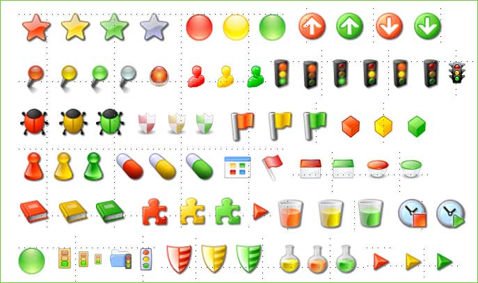 11 Red Yellow-Green Status Icons Images