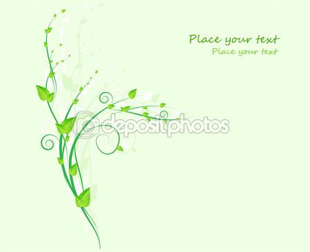 Green Swirl Floral Design