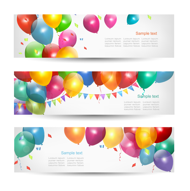 18 Happy Birthday Banners Vector Art Images