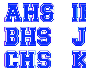 11 High School Sports Block Font Images - NFL Football
