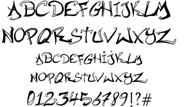 Hip Hop Graffiti Fonts