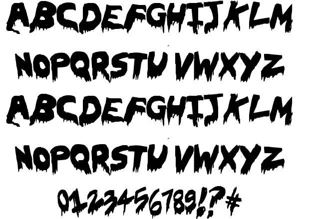 Horror Alphabet Fonts Scary