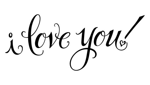 9 I Love You In Calligraphy Script Font Images Fancy: i love you calligraphy