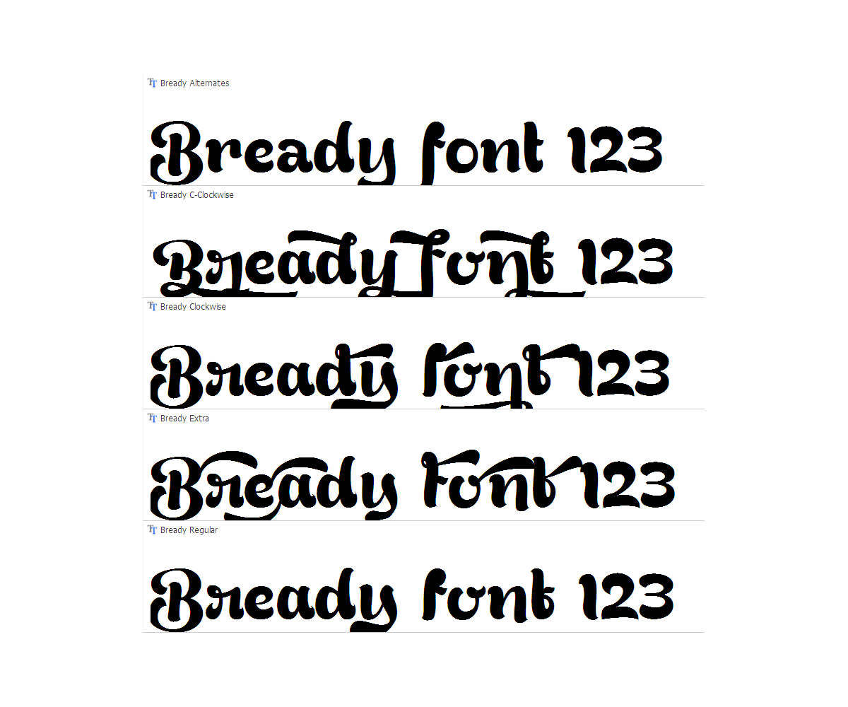 15 Thick Curly Fonts Images