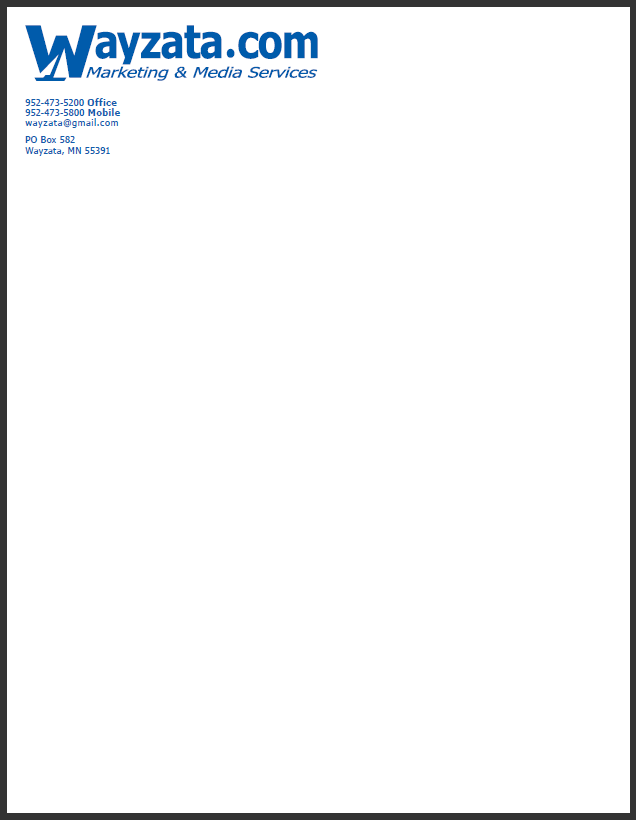 Letterhead Business Letter Example