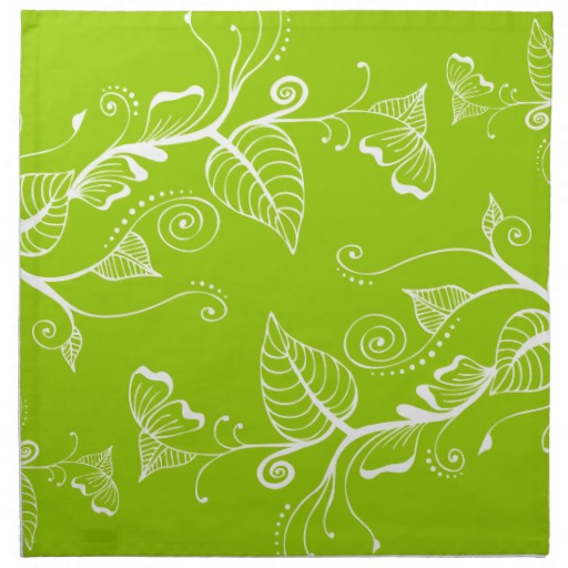 Lime Green Background with Swirls