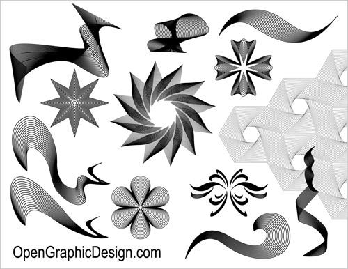 Line Art Definition Graphic Design : Line design art graphics images abstract vector wave