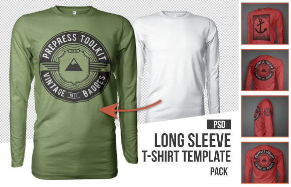 Long Sleeve T-Shirt Mockup Templates