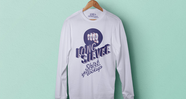 Long Sleeve T-Shirts Mock Up Psd
