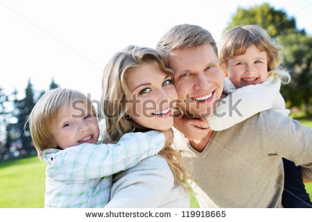 5 Happy Family Outdoors Stock Photo Images