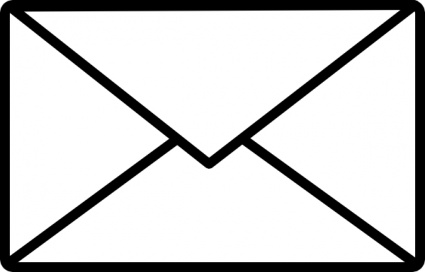 Mail Clip Art Black and White