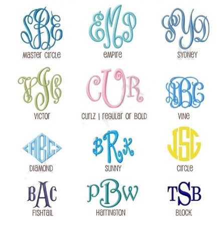 Monogram Font Available