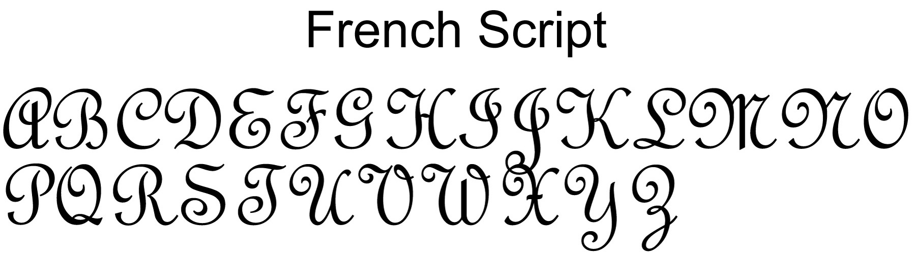 Monogram Script Font