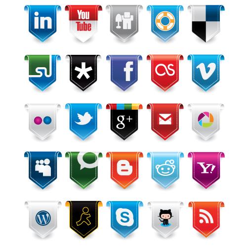 New Social Media Icons