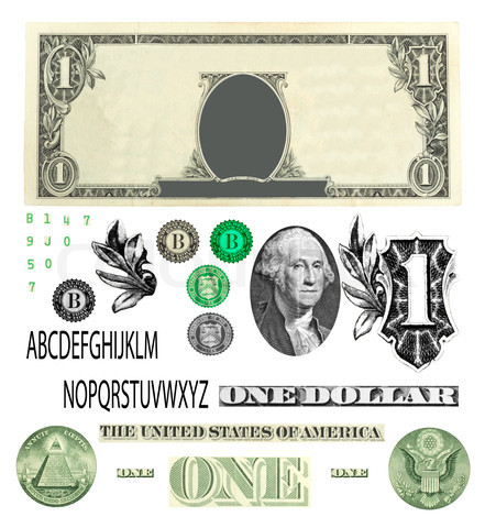 One Dollar Bill Vector