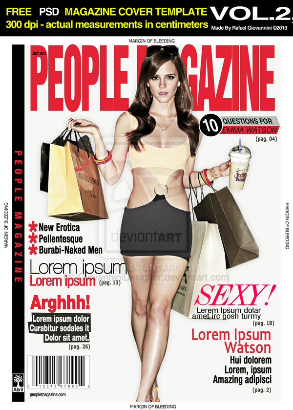 12 People Magazine Cover PSD Images